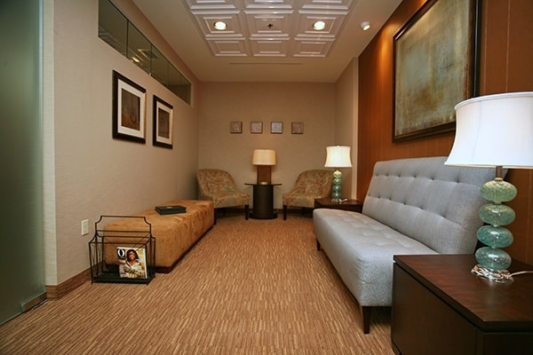 The waiting area in Dr. Olson's office is designed with your comfort in mind.
