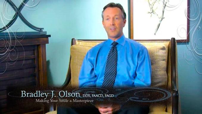 Dr. Bradley Olson DDS sitting on a sofa in Waldorf, MD
