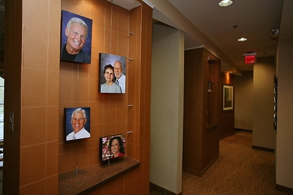 Pictures of actual dental patients of Dr. Bradley J. Olson adorn our walls.