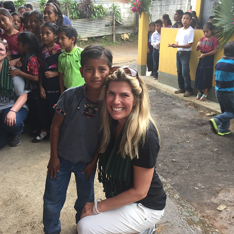 Sharron Olson Smiles With Young Guatemalan Boy