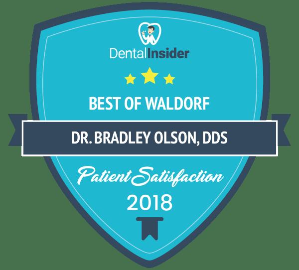 Best of Waldorf Patient Satisfaction 2018 award